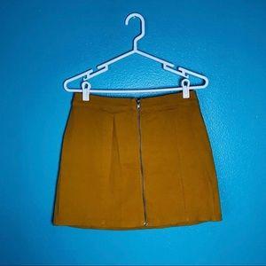 FOREVER 21 Gold/Yellow Denim Skirt